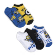 Despicable Me 5 Pk. No Show Socks - Boys