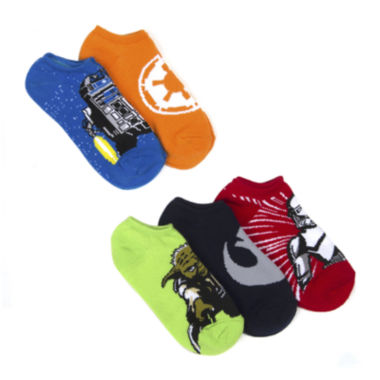 jcpenney.com | Star Wars® 5-Pk. No Show Socks - Boys