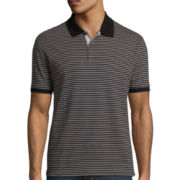 Claiborne® Interlock Striped Polo