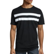 JF J.Ferrar® Short-Sleeve Striped Graphic Tee