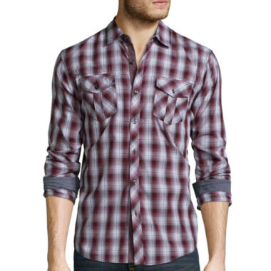 jcpenney.com | Michael Brandon® Ombre Plaid Button-Front Shirt