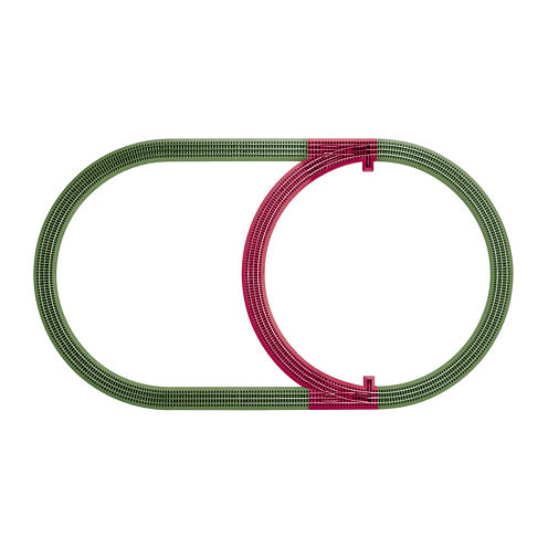 Lionel FasTrack Inner Passing Loop Expansion Kit