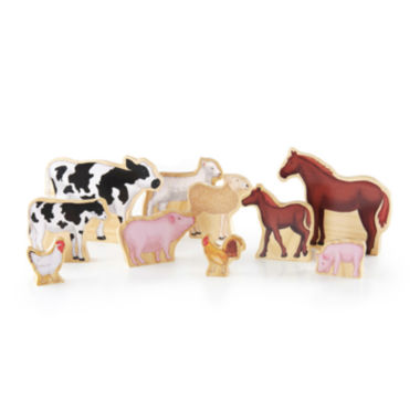 jcpenney.com | Guidecraft Wedgies 10-pc. Farm Animals Toy Set