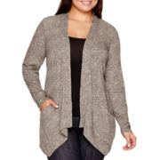 St. John's Bay® Knit Flyaway Cardigan Sweater
