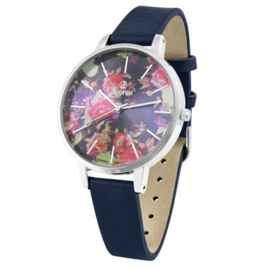 jcpenney.com | Decree® Womens Blue Floral Watch