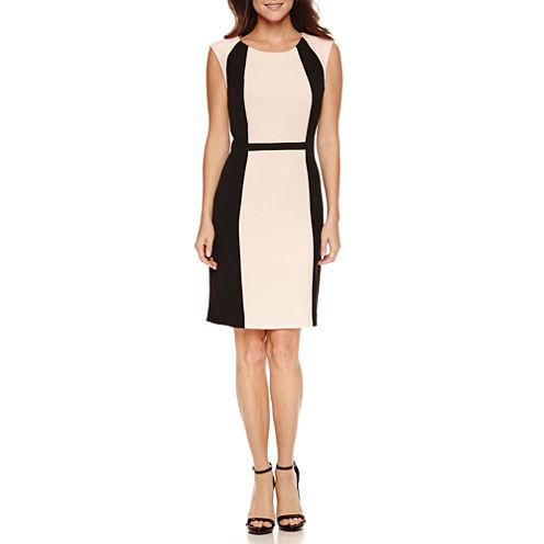 Chelsea Rose Sleeveless Colorblock Sheath Dress