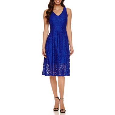 jcpenney.com | Ronni Nicole Sleeveless Lace Fit & Flare Dress
