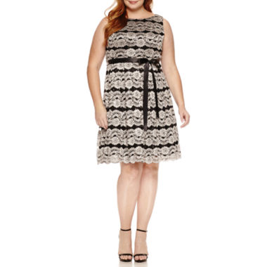 jcpenney.com | Jackie Jon Sleeveless Sequin Fit & Flare Dress-Plus