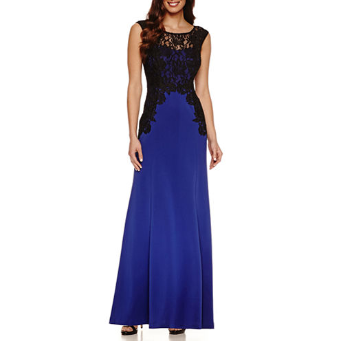 Melrose Sleeveless Lace Evening Gown