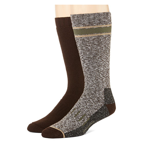 St. John's Bay® Mens 2-pk. Thermal Cushion Boot Crew Socks