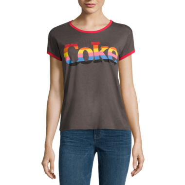 jcpenney.com | Mighty Fine Short Sleeve Crew Neck Ringer Tee