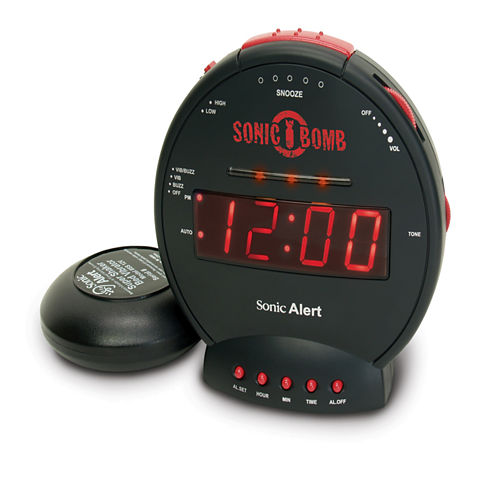 Sonic Alert SA-SBB500SS Sonic Bomb Alarm Clock with Super Shaker