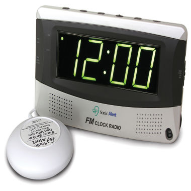 jcpenney.com | Sonic Alert SA-SBR350SS Sonic Boom Alarm Clock with Super Shaker and AM/FM Radio