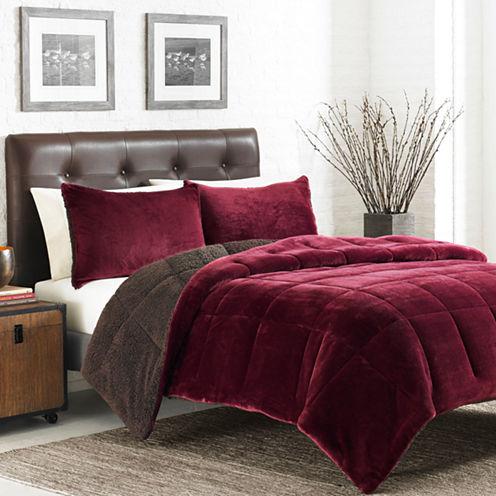 Eddie Bauer 3-pc. Reversible Premium Fleece Bee Comforter Set