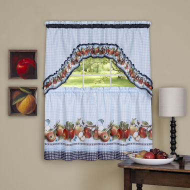 jcpenney.com | Golden Delicious 3-pc. Rod-Pocket Kitchen Curtain Set