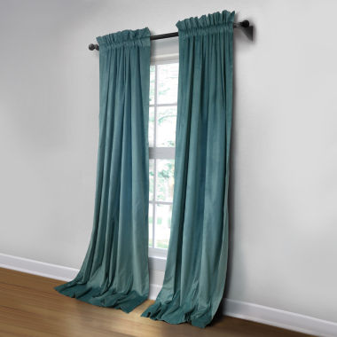 jcpenney.com | JCPenney Home Made-To-Length Velvet Rod-Pocket Unlined Curtain Panel