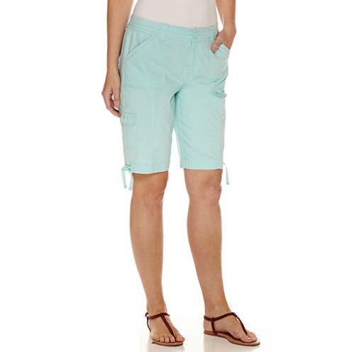 """St. John's Bay Cargo Woven 11"""" Bermuda Shorts"""