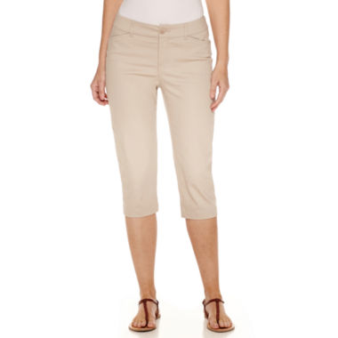 jcpenney.com | St. John's Bay® Super Soft Twill Capris - Tall