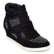 Stevies® Glitz Girls High-Top Wedge Sneakers