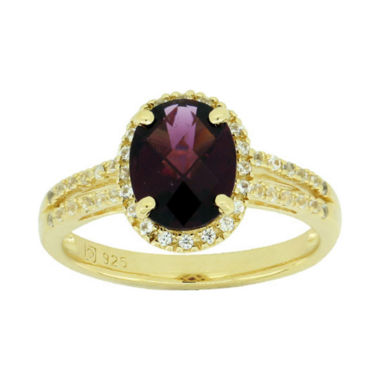 jcpenney.com | Genuine Garnet & Lab-Created White Sapphire Ring