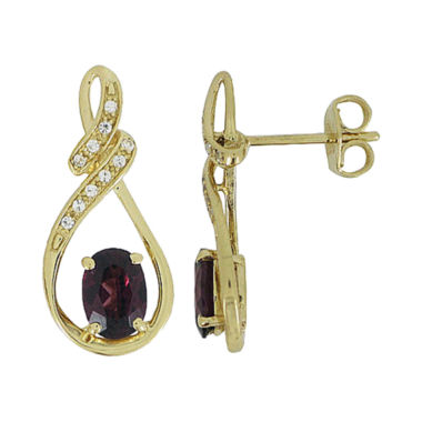 jcpenney.com | Genuine Garnet & Lab-Created White Sapphire Earrings