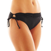 jcp™ Solid Keyhole Hipster Swim Bottoms