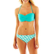 jcp™ Solid Swim Top or Print Hipster Bottoms