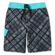 Arizona Plaid Swim Trunks - Boys 6-18