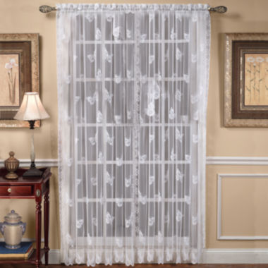jcpenney.com | Butterfly Lace Rod-Pocket Curtain Panel