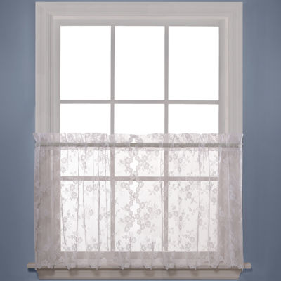 Petite Fleur Rod-Pocket Window Tiers