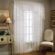 Petite Fleur Rod-Pocket Kitchen Curtains