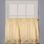 Seabreeze 2-Pack Rod-Pocket Window Tiers