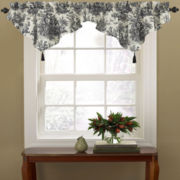 Waverly® Country Life Toile Rod-Pocket Ascot Valance