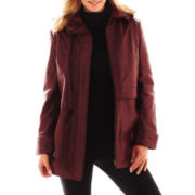 Excelled Leather Hooded Anorak Jacket