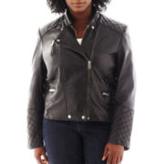 Excelled Leather Motorcycle Jacket - Plus