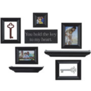 Melannco® You Hold the Key to My Heart Picture Frame Set