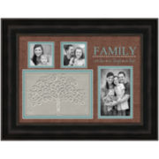Family Picture Frame with 3 Openings