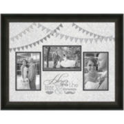 Here's to the Bride and Groom Picture Frame with 3 Openings