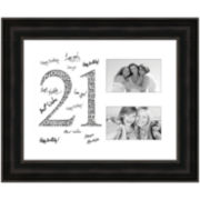 21 Years Signature Mat Picture Frame with 2 Openings