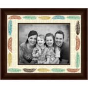 Feather Matted Picture Frame