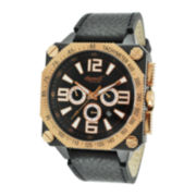 Ingersoll® Bison No. 20 Mens Black Leather Strap Automatic Watch