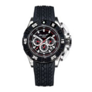 Ingersoll® Bison No. 40 Mens Black Silicone Strap Automatic Watch