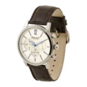 Ingersoll® Portland Mens Brown Leather Strap Chronograph Watch
