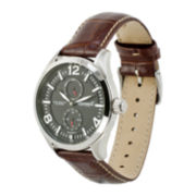 Ingersoll® Wellington Mens Brown Leather Strap Watch