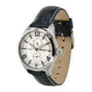 Ingersoll® Wellington Mens Black Leather Strap Watch
