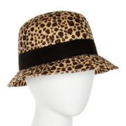 Animal-Print Cloche Hat