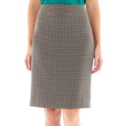 Black Label by Evan-Picone Tweed Skirt