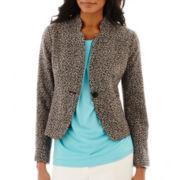 Liz Claiborne® 1-Button Tweed Jacket - Tall