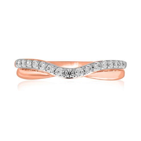 10K Rose Gold ¼ CT. T.W. Diamond Bump Wedding Band