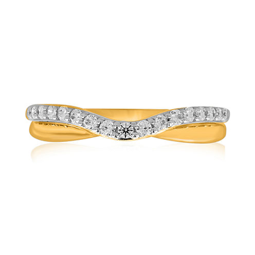 10K Yellow Gold ¼ CT. T.W. Diamond Bump Wedding Band